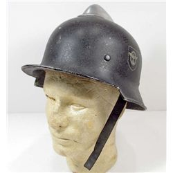 RARE GERMAN NAZI FIRE POLICE DOUBLE DECAL COMBAT HELMET