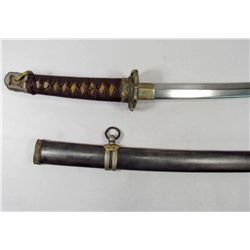 JAPANESE ARMY MILITARY OFFICERS SAMURAI SWORD & SCABBARD