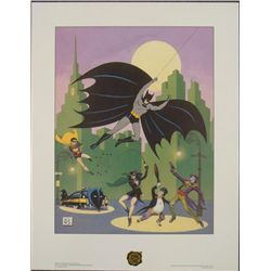 Bob Kane Golden Years PP Batman 50th Anniversary Print