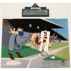 Original Signed Yogi Berra Cel Animation Art Bugs Bunny