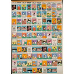 Peanuts Uncut Card Sheet 3 Full Sets Comics MINT