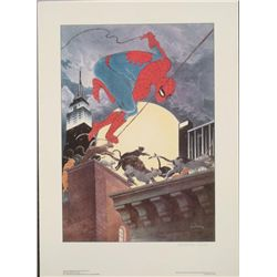 Charles Vess Signed SpiderMan PurrFefect Memories Print