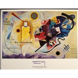 Wassily Kandinsky Art Poster Yellow Red Blue Framed