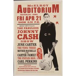Johnny Cash, Waterloo, Iowa, 1967 Concert Poster
