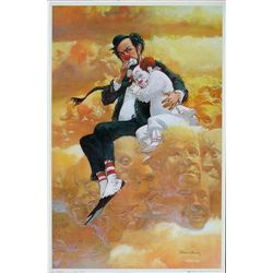 Colorful Robert Owen FRIENDSHIP Clown Art Print