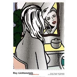 Roy Lichtenstein : Nude at Vanity Art Print