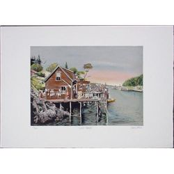 Atmospheric LOBSTER SHANTY Signed LE Art Print Stevens