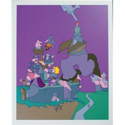 Wild Wacky Purple Cartoon Style JAKUBOWICZ Art Print