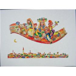 Obican MAGIC CARPET Colorful Whimsical Folklore Art