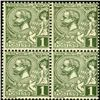 1891 Monaco 1c Prince Albert Block of 4 Error (STM-0513)
