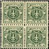 1920 Poland 2m Eagle 4 Block Variety (STM-0454)