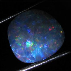 3.4ct Australian Black Opal Doublet Full Fire (GEM-36419)