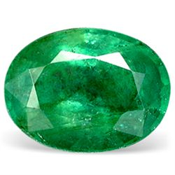 0.1ct. Natural Green Colombian Emerald Oval Cut (GMR-0157)