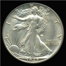 1942S Walking Liberty 50c Choice+ Unc Variety (COI-6314)