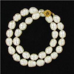 Saltwater Baroque White Pearl Necklace (JEW-250Q)