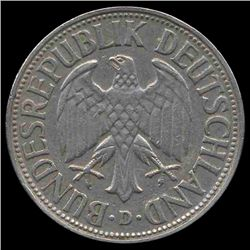 1954D Germany 1 Mark Hi Grade RARE (COI-8133)