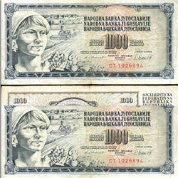 1981 Yugoslavia 1000 Dinara Circulated Note (CUR-05894)