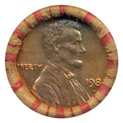 1982D Lincoln Cent RARE Never Opened BU Roll (COI-5524)