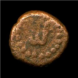 Ancient India Tanjore Nayak Copper Coin VF+ Ty 1 (COI-5778)