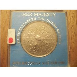 1980 Queen Elizabeth II Queen Mother 80th Birthday Commemorative Coin