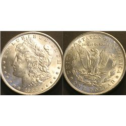 JG 836-1888 P Very Nice BU Morgan Silver Dollar