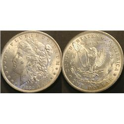 JG 907-1884 O BU Morgan Dollar PL RVS