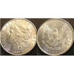 JG 915-1887 P PL BU Morgan Dollar