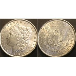JG 917-1887 P BU Morgan Dollar