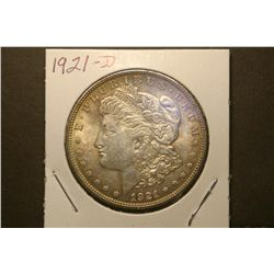 JG 935-1921 D BU Morgan Dollar