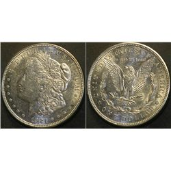 JG 941- 1921 D BU Morgan Dollar PL RVS