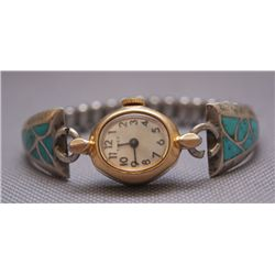 Zuni silver watch band