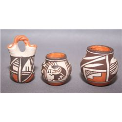 Three Acoma mini pots