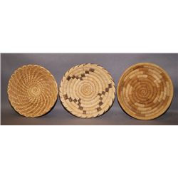 3 Papago basketry trays