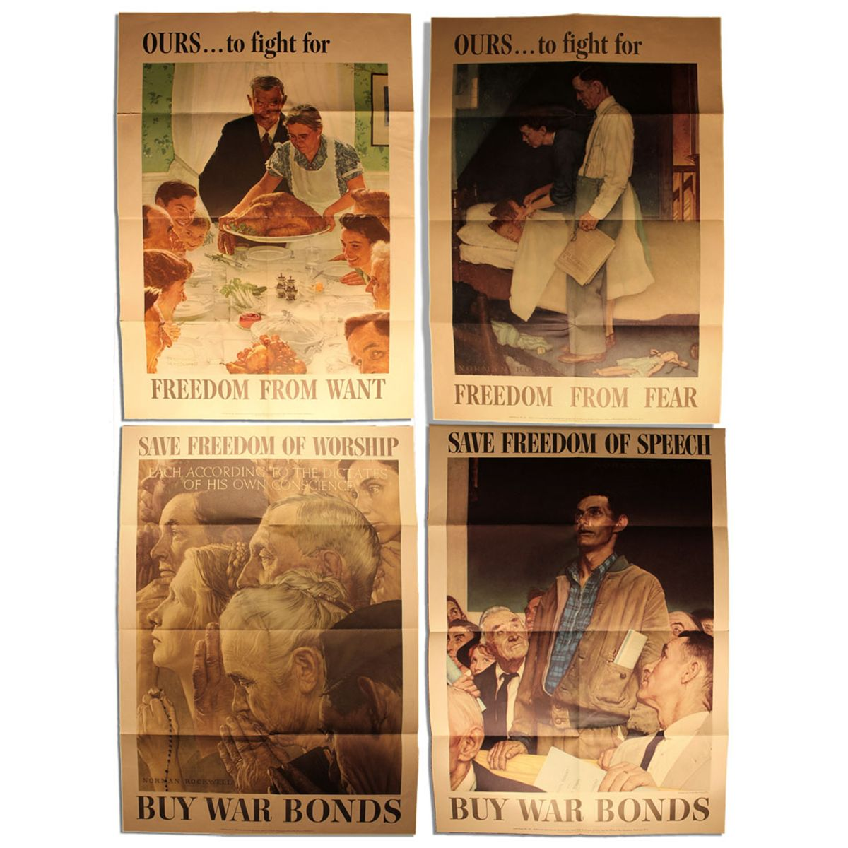 Rockwell's ''Four Freedoms'' Posters