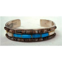 Turquoise, Heishi and Mother of Pearl Bracelet