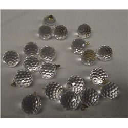 20 Pieces Swarovski Faceted Crystal Ball Ornaments