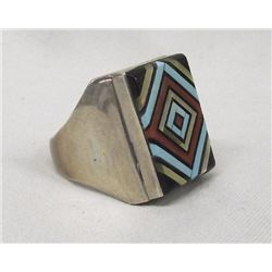 Native American Zuni Ring by V Vacit Size 13