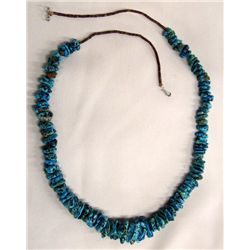 Navajo Turquoise Nugget Heishi Necklace