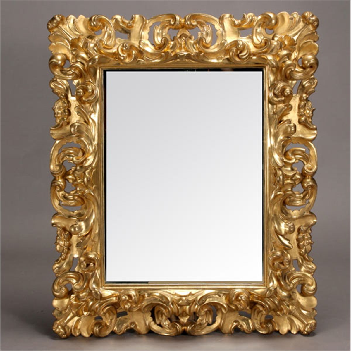 Italian baroque style gilt and gessoed mirror for Baroque mirror