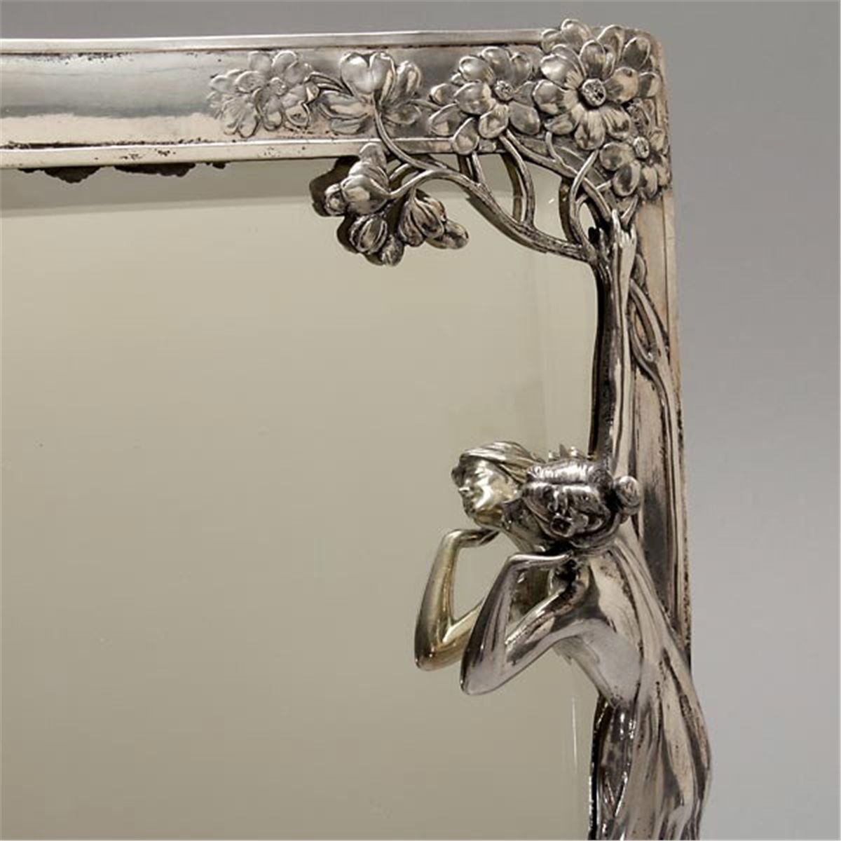 Art nouveau wmf pewter table mirror for Miroir winners