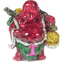 550ct. Ruby & Topaz Chinese Happy Buddha Statue (GEM-4898)