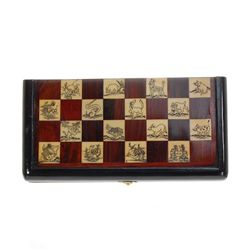 Rosewood & Bone Chess Set in Wood Storage Box (CLB-322)