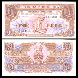 1956 1 Pound Military Note Crisp Uncirculated (CUR-06068)