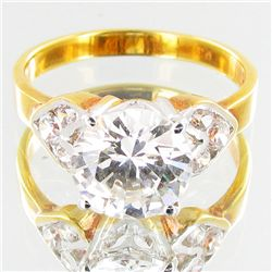 17.8twc Lab Diamond Gold Vermeil Ring (JEW-3522)