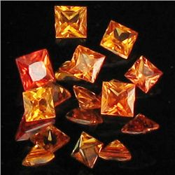 1ct Hot Orange Sapphire Square Parcel (GEM-40560)
