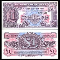 1958 1 Pound Military Note Crisp Uncirculated (CUR-06066)