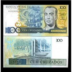 1987 Brazil 100 Cruzados Crisp Uncirculated Note (CUR-05914)