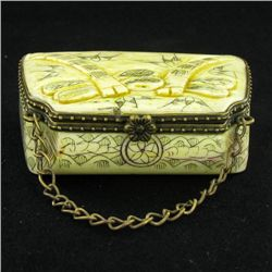 Chinese Handcarved Bone Gem Box (CLB-843)
