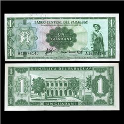 1952 Paraguay 1 Peso Note Crisp Uncirculated Ty 1 (CUR-05602)