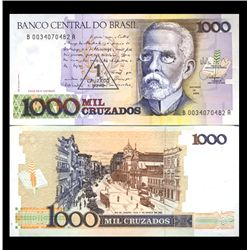1988 Brazil 1000 Cruzados Crisp Uncirculated Note (CUR-05916)